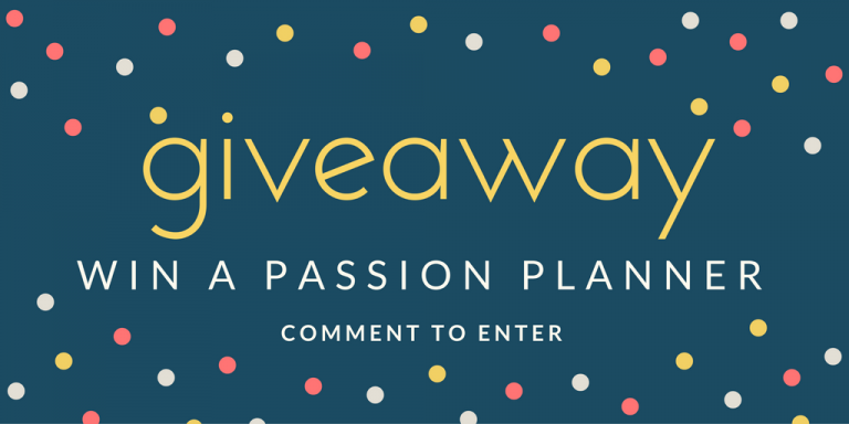 giveaway passion planner