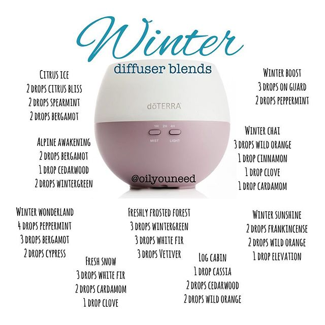 winter essential oils diffuser blends